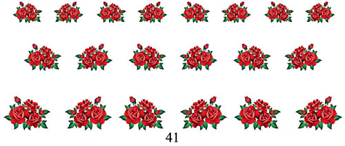 wraps blumen 41 nail wraps fingernagel art tattoo sticker wassertransfer folie 20 stk. Black Bedroom Furniture Sets. Home Design Ideas