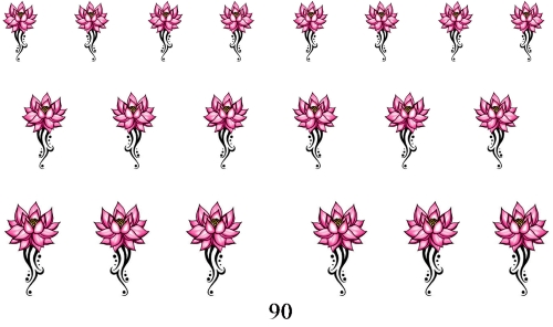 wraps blumen 90 nail wraps fingernagel art tattoo sticker wassertransfer folie 20 stk. Black Bedroom Furniture Sets. Home Design Ideas