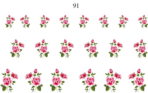 wraps blumen 91 nail wraps fingernagel art tattoo sticker wassertransfer folie 20 stk. Black Bedroom Furniture Sets. Home Design Ideas