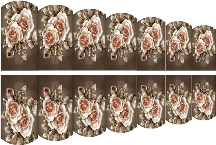 wraps blumen 16 nail wraps tattoo sticker fullcover wassertransfer folie 14 stk. Black Bedroom Furniture Sets. Home Design Ideas