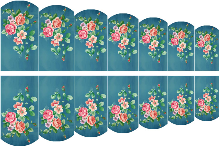 wraps blumen 19 nail wraps tattoo sticker fullcover wassertransfer folie 14 stk. Black Bedroom Furniture Sets. Home Design Ideas